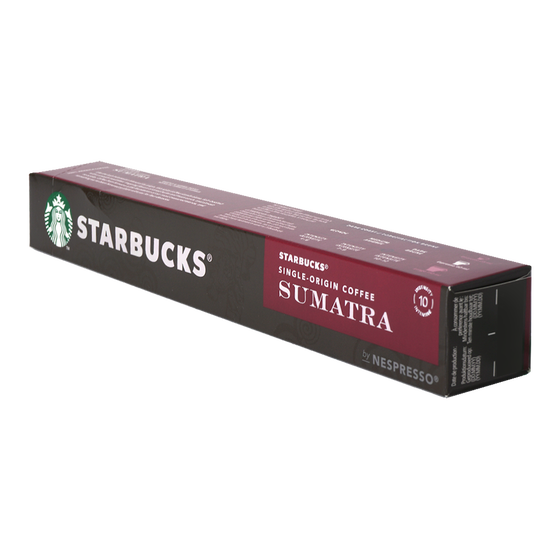 Starbucks - nespresso - Sumatra - single origin